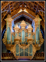Holy name cathedral - rear organ pipes